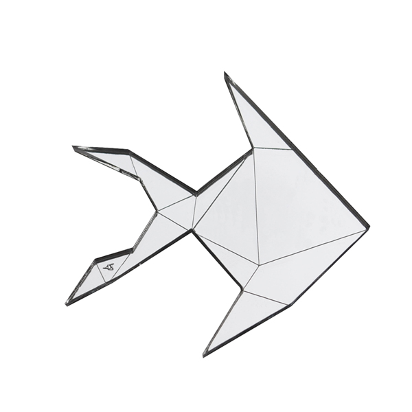 Spilla In Plexiglass Origami Pesce Merci Di Culto